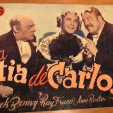 Cine: NOVELA PELÍCULA LA TÍA DE CARLOS JACK BENNY.EDICIONES BISTAGNE. Lote 151173152