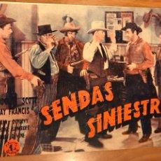 Cine: NOVELA PELÍCULA SENDAS SINIESTRAS RANDOLPH SCOTT KAY FRANCIS.EDICIONES BISTAGNE. Lote 151173222