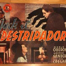 Cine: NOVELA PELÍCULA JACK EL DESTRIPADOR MERLE OBERÓN GEORGE SANDERS.EDICIONES BISTAGNE. Lote 151173318