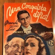 Cine: NOVELA PELÍCULA UNA CONQUISTA DIFÍCIL.MARUCHI FRESNO LUIS PRENDES.. Lote 151173973