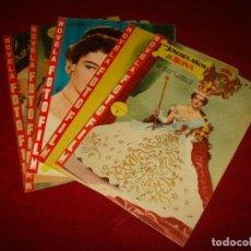 Cine: NOVELA FOTOS FILM LOS JOVENES AÑOS DE UNA REINA COMPLETA EN 5 FASCICULOS EDITORIAL FHER 1958. Lote 151314826