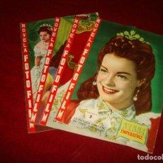 Cine: NOVELA FOTO FILM SISSI EMPERATRIZ 4 FASCICULOS DE 5 FALTA EL Nº 1 EDITORIAL FHER 1958. Lote 151317206