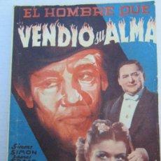 Cine: EDICIONES CINEMATOGRAFICAS BISTAGNE , EL HOMBRE QUE VENDIO SU ALMA , . Lote 151664726