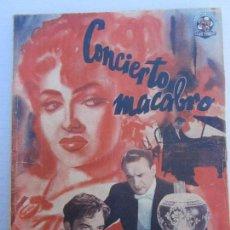 Cine: ESPECIALES CINEMATOGRAFICAS BISTAGNE , CONCIERTO MACABRO . Lote 151664938