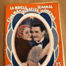 Cine: LA NOVELA SEMANAL CINEMATOGRÁFICA MODERNA EL DESTINO DE UN CABALLERO.JOHN GILBERT ANITA PAGE. Lote 151989384