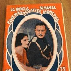 Cine: LA NOVELA SEMANAL CINEMATOGRÁFICA MODERNA EL REBELDE.ZUZY VERNON PIERRE BATCHEFF.EDICIONES BISTAGNE. Lote 151989849