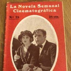 Cine: LA NOVELA SEMANAL CINEMATOGRÁFICA 75.RELAMPAGO.WALLACE REID. Lote 151992556