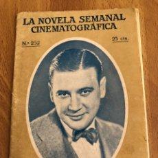 Cine: LA NOVELA SEMANAL CINEMATOGRÁFICA 252.LA PASIÓN DEL LUJO.RICHARD DIX. Lote 151992798