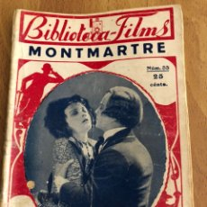 Cine: NOVELA BIBLIOTECA FILMS 33 MONTMARTRE POLA NEGRI. Lote 151995197