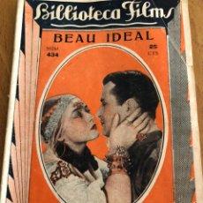Cine: NOVELA BIBLIOTECA FILMS 434 BEAU IDEAL LORETTA YOUNG RALPH FORBES. Lote 151995650