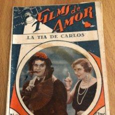 Cine: NOVELA FILMS DE AMOR 238 LA TÍA DE CARLOS CHARLES RUGGLES JUNE COLLIER. Lote 151997962