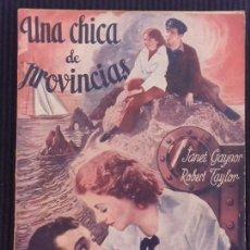 Cine: UNA CHICA DE PROVINCIAS. EDICIONES BISTAGNE.. Lote 152363626