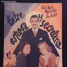 Cine: ENTRE ESPOSA Y SECRETARIA. EDICIONES BISTAGNE.. Lote 152363726