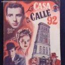 Cine: LA CASA DE LA CALLE 92. EDICIONES BISTAGNE.. Lote 152364106
