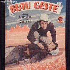 Cine: BEAU GESTE. EDICIONES BISTAGNE.. Lote 152364198