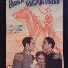 Cine: LA CARGA DE LA BRIGADA LIGERA. EDICIONES BISTAGNE.. Lote 152364298