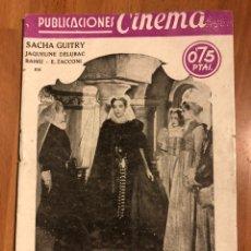 Cine: PUBLICACIONES CINEMA.LAS PERLAS DE LA CORONA.SACHA GUITRY. Lote 153397284