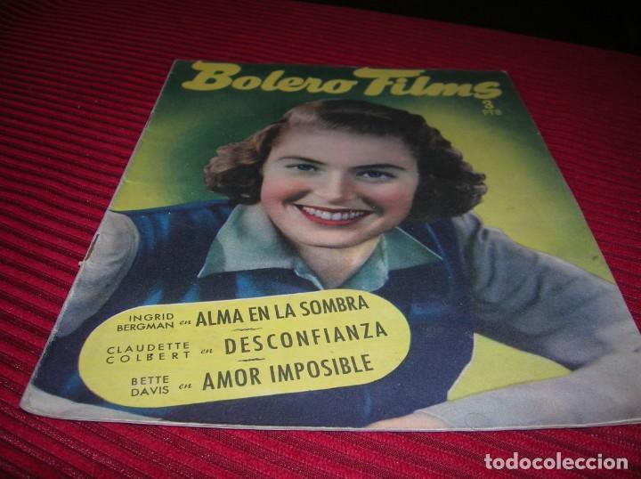ANTIGUA REVISTA. BOLERO FILMS (Cine - Foto-Films y Cine-Novelas)