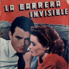 Cine: LA BARRERA INVISIBLE (BISTAGNE, S.F.) GREGORY PECK. Lote 155743238