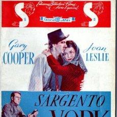 Cine: SARGENTO YORK (BISTAGNE, S.F.) GARY COOPER. Lote 155743362