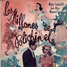 Cine: LOS MILLONES DE POLICHINELA (BISTAGNE, S.F.) MARTA SANTAOLALLA - LUIS PEÑA - MANUEL LUNA. Lote 155743590