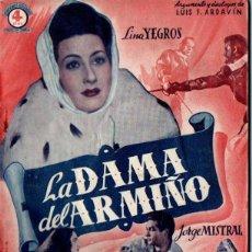 Cine: LA DAMA DE ARMIÑO (BISTAGNE, S.F.) LINA YEGROS - JORGE MISTRAL. Lote 155744682