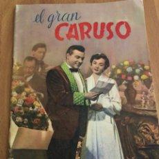 Cine: EL GRAN CARUSO.ANN BLYTH MARIO LANZA.CINE ÁLBUM EDICIONES PAULINAS MADRID. Lote 156234848
