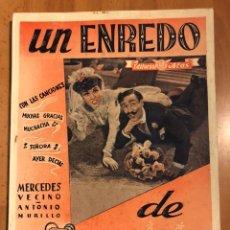 Cine: UN ENREDO DE FAMILIA.MERCEDES VECINO.EDITORIAL ALAS. Lote 158987181