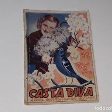 Cinéma: SELECCION FILMS DE AMOR AÑO II Nº 57 - CASTA DIVA - MARTHA EGGERTH - ED. ALAS AÑOS 30 CINE MUDO . Lote 168604280