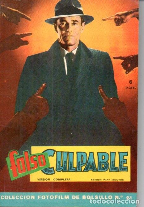 FOTO FILM DE BOLSILLO Nº 21 : FALSO CULPABLE (1959) (Cine - Foto-Films y Cine-Novelas)