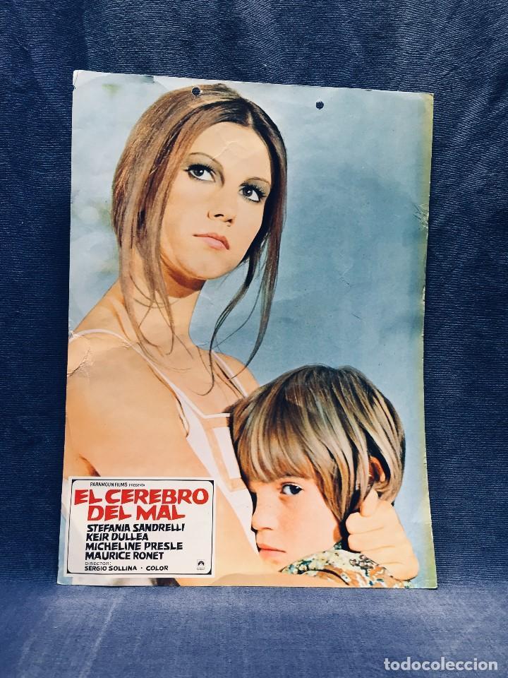 PARAMOUN FILMS EL CEREBRO DEL MAL SANDRELLI DULLEA SOLLINA 33X24CMS (Cine - Foto-Films y Cine-Novelas)