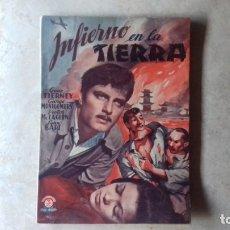 Cine: INFIERNO EN LA TIERRA. EDICIONES BISTAGNE. SERIUE TRIUNFO.. Lote 173064455