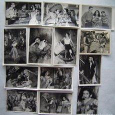 Cine: LOLA FLORES, 13 FOTOS ORIGINALES DE ESCENAS. SOBRE 11 X 18 CMS... Lote 173879273