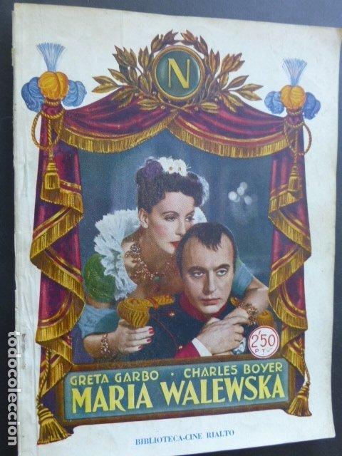 PELICULA 1944 NAPOLEON MARIA WALEWSKA GRETA GARBO CHARLES BOYER NOVELA CON FOTOS BIBLIOTECA RIALTO (Cine - Foto-Films y Cine-Novelas)