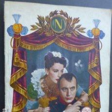 Cine: PELICULA 1944 NAPOLEON MARIA WALEWSKA GRETA GARBO CHARLES BOYER NOVELA CON FOTOS BIBLIOTECA RIALTO. Lote 175868064
