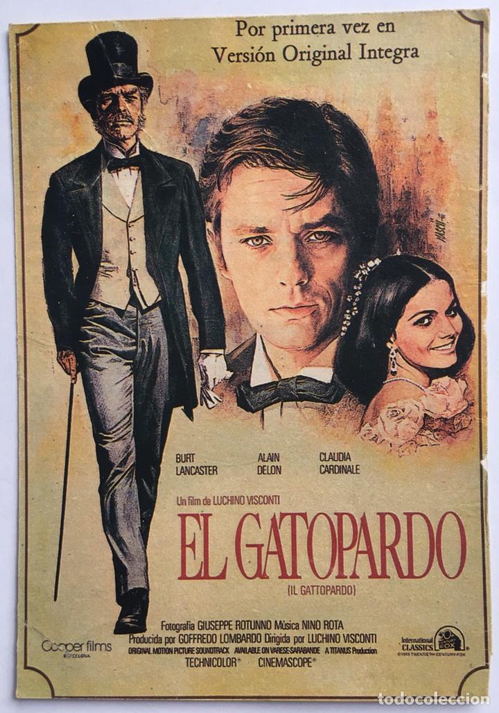 CARTEL PEQUEÑO EL GATOPARDO BURT LANCASTER ALAIN DELON (Cine - Foto-Films y Cine-Novelas)