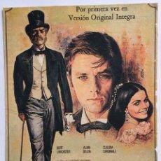 Cine: CARTEL PEQUEÑO EL GATOPARDO BURT LANCASTER ALAIN DELON. Lote 176786302