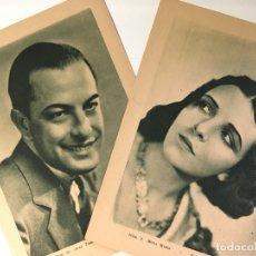 Cine: DEL MISMO BARRO - ESTAMPAS DEL CINEMA Nº 2 - AÑO 1931 - 2 FOTOCROMOS MONA MARIS JUAN TORENA. Lote 177067518