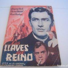 Cine: LAS LLAVES DEL REINO. Lote 177727423