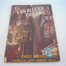 Cine: EL CABALLERO NEGRO. Lote 177728185