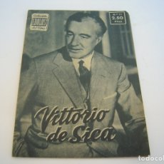 Cine: VITTORIO DE SICA COLECCION IDOLOS DEL CINE. Lote 177798932