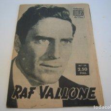 Cine: RAF VALLONE COLECCION IDOLOS DEL CINE. Lote 177798989
