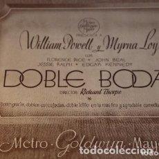 Cine: DOBLE BODA WILLIAM POWELL MYRNA LOY ROONEY 13 FOTOCROMOS ORIGINALES.BUEN ESTADO. Lote 177840529