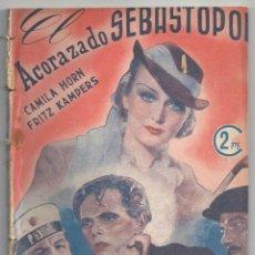 Cinema: ZW16 EL ACORAZADO SEBASTOPOL CAMILLA HORN NOVELA CON FOTOS HISPANIA TOBIS COLECCION CINEMA. Lote 178794168