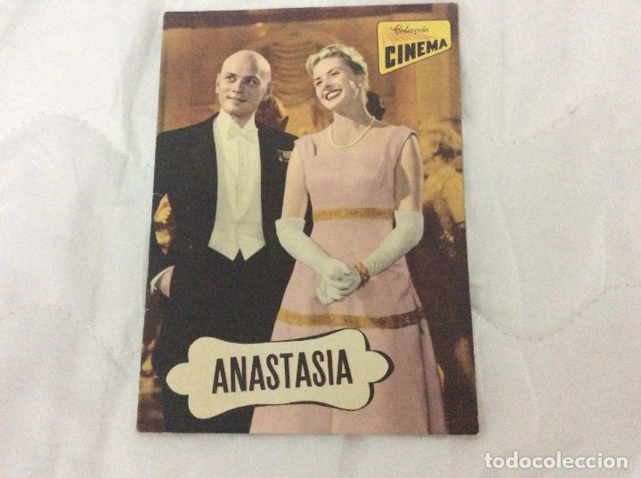 REVISTA DE CINE ROMANCE, AÑOS 50. ILUSTRADA - ANASTASIA - INGRID BERGMAN, YUL BREYNNER (Cine - Foto-Films y Cine-Novelas)