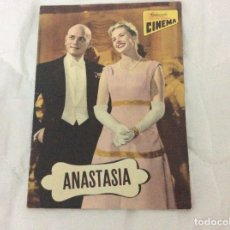Cine: REVISTA DE CINE ROMANCE, AÑOS 50. ILUSTRADA - ANASTASIA - INGRID BERGMAN, YUL BREYNNER. Lote 180075187