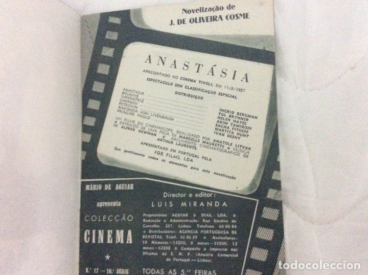 Cine: Revista de cine romance, Años 50. Ilustrada - Anastasia - Ingrid Bergman, Yul Breynner - Foto 2 - 180075187
