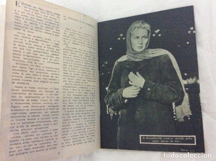 Cine: Revista de cine romance, Años 50. Ilustrada - Anastasia - Ingrid Bergman, Yul Breynner - Foto 3 - 180075187