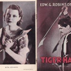 Cine: 5 GUÍAS DE CINE DANESAS DE EDWARD G. ROBINSON CON ARGUMENTO Y FOTOS. Lote 180314040