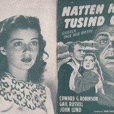 Cine: 5 GUÍAS DE CINE DANESAS DE EDWARD G. ROBINSON CON ARGUMENTO Y FOTOS. Lote 180314101